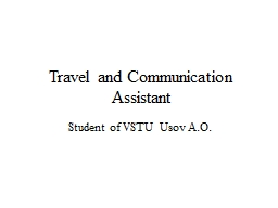 Travel and Communication Assistant
