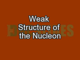 Weak Structure of the Nucleon