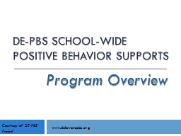 DE-PBS School-wide