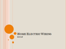 Home Electric Wiring PowerPoint PPT Presentation