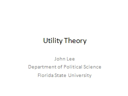 Utility Theory PowerPoint PPT Presentation