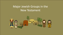 Major Jewish Groups in the