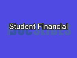 Student Financial