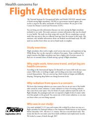 Health concerns for Flight Attendants September  e Nat