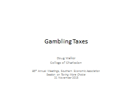 Gambling Taxes