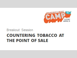 Countering tobacco at the point of sale