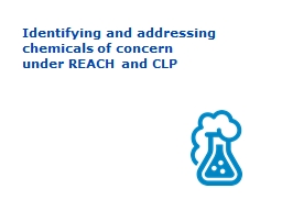 Identifying and addressing chemicals of concern