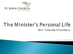 The Minister's Personal Life