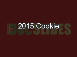 2015 Cookie