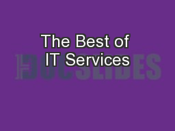 The Best of IT Services
