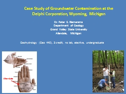 Case Study of Groundwater Contamination at the