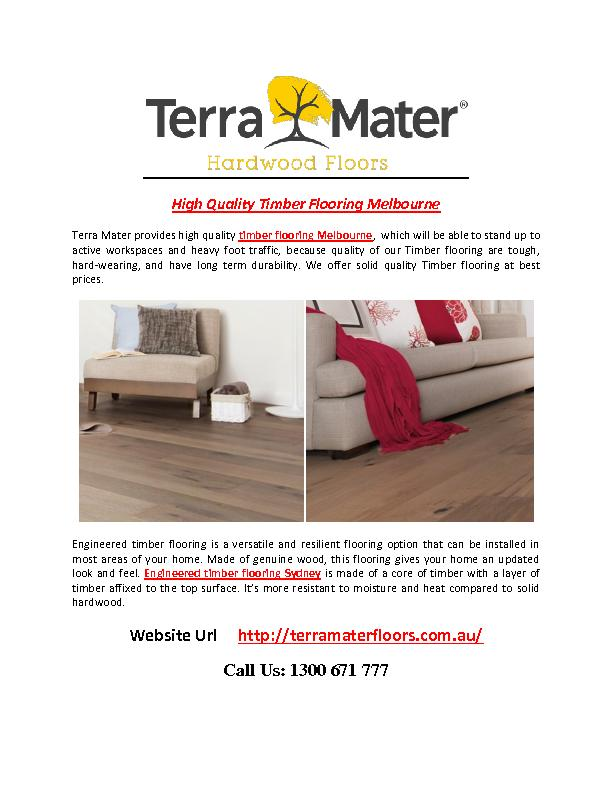 High Quality Timber Flooring Melbourne