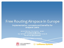 Free Routing Airspace in Europe PowerPoint PPT Presentation