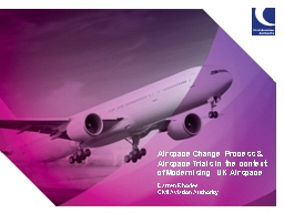 Airspace Change Process & Airspace Trials in the contex