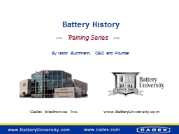 Battery History PowerPoint PPT Presentation