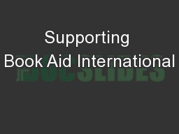 Supporting Book Aid International