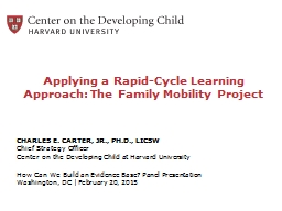 Applying a Rapid-Cycle Learning