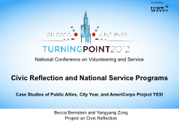 Civic Reflection and National Service Programs PowerPoint PPT Presentation