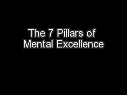 The 7 Pillars of Mental Excellence