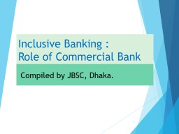Inclusive Banking PowerPoint PPT Presentation