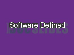 Software Defined