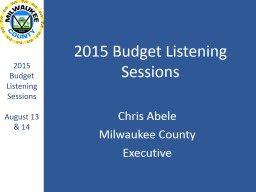 2015 Budget Listening Sessions PowerPoint PPT Presentation