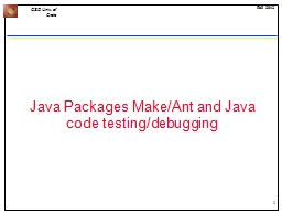 Java Packages Make/Ant and Java code