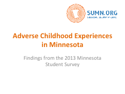 Adverse Childhood Experiences in Minnesota
