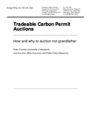 Tradeable Carbon Permit Auctions How and why to auctio