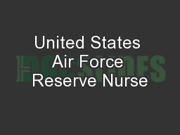 United States Air Force Reserve Nurse