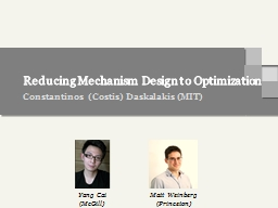 Reducing Mechanism Design to Optimization PowerPoint PPT Presentation