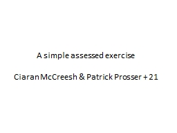 A simple assessed exercise PowerPoint PPT Presentation