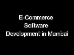 E-Commerce Software Development in Mumbai