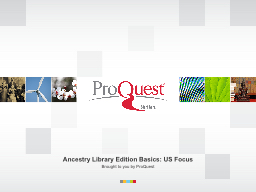 Ancestry Library Edition Basics: US Focus