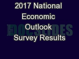 2017 National Economic Outlook Survey Results