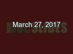 March 27, 2017