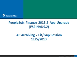 PeopleSoft Finance 2013.2 App Upgrade PowerPoint PPT Presentation