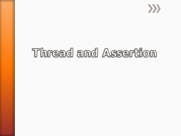 Thread and Assertion