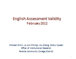 English Assessment Validity