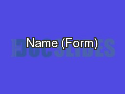Name (Form)