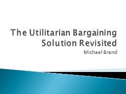 The Utilitarian Bargaining Solution Revisited