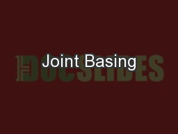 Joint Basing