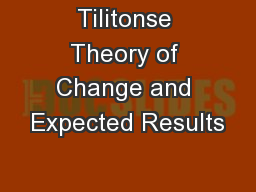 Tilitonse Theory of Change and Expected Results PowerPoint PPT Presentation