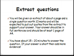 Extract questions