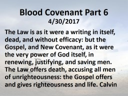Blood Covenant Part 6