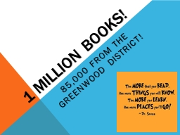 1 Million Books!