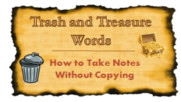 Trash and Treasure Words PowerPoint PPT Presentation