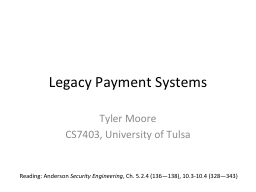 Legacy Payment Systems