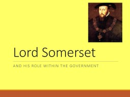 Lord Somerset