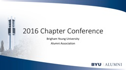 2016 Chapter Conference